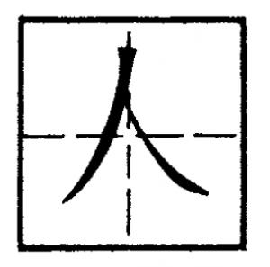 иероглиф человек